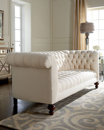 "Old Hickory Tannery ""Ellsworth"" Tufted Sofa traditional-sofas"