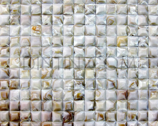 shell tile project materials - Solid mother of pearl mosaic tiles with convex surface 20x20mm chip size,suitable for background wall.