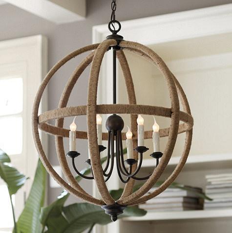 Orson Jute Orb Chandelier traditional-chandeliers