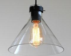 LOFT Industrial Glass Pendant Lighting in black contemporary-pendant-lighting