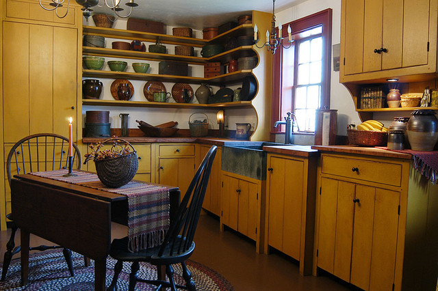 1720s Maine House traditional kitchen