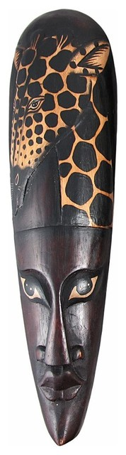 African Jungle Giraffe Mask eclectic-artwork