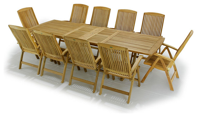 Grand Recliner Teak Dining Set modern-dining-sets