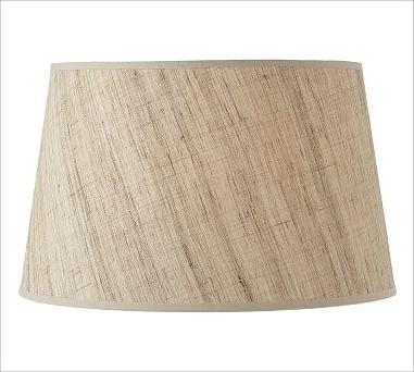 Natural Fiber Tapered Drum Shade, Large