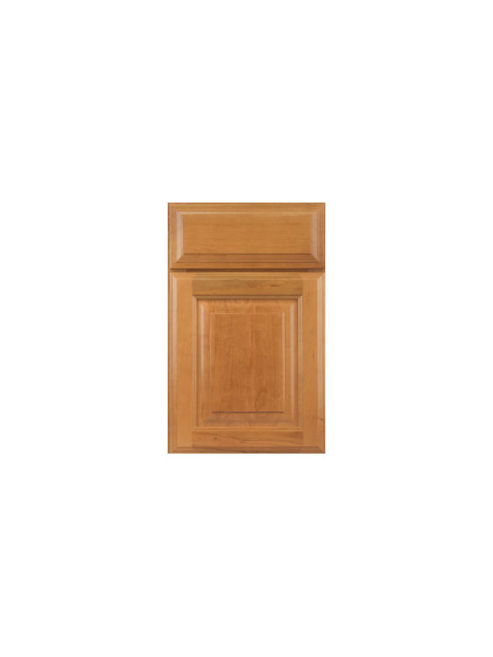 Cherry Door Styles from Wellborn Cabinet, Inc. - Seville Cherry features a full overlay raised panel and the drawer front includes a detailed three-step profile. The drawer front detail on Seville is truly an accent!