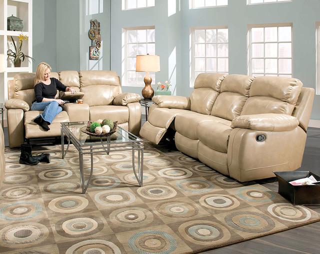 North Dakota Jute Reclining Sofa And Loveseat Set