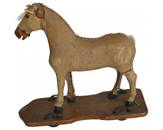 Pull Toy Horse - This is a sweet antique pull toy horse, circa 1800s.