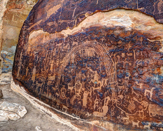 Ancient Native America - Rochester Native American Rock Art Panel in southern Utah