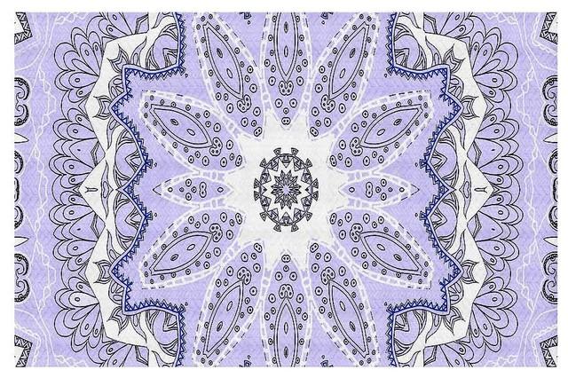 Area Rug by Monika Strigel - Fairy Dream Mandala Purple contemporary-area-rugs