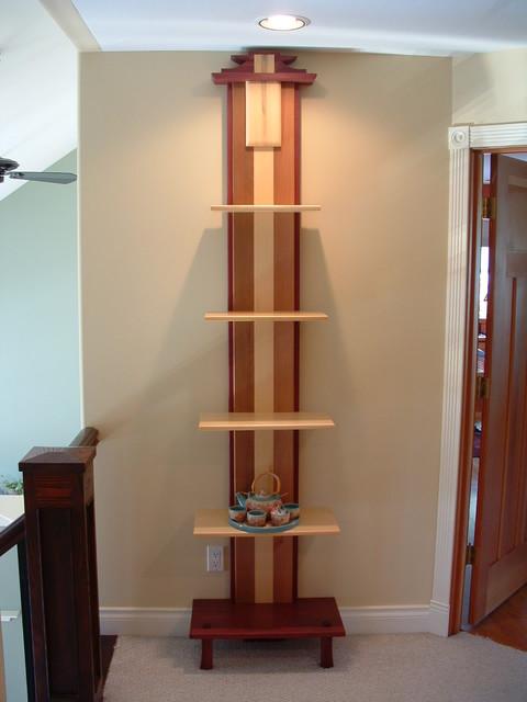 Craftsman Timber Frame Furniture asian-display-and-wall-shelves
