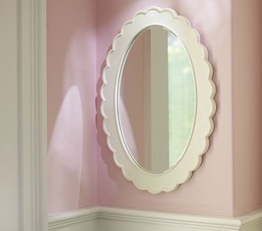 Scallop mirror traditional kids wall decor by pottery barn kids