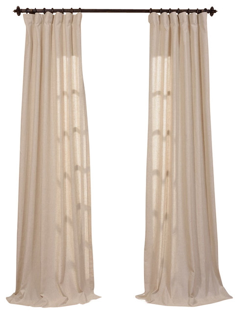 Hilo Natural Linen Blend Solid Curtain - Traditional - Curtains - by ...