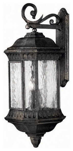 Hinkley Lighting 1726BG Regal Black Granite Outdoor Wall Sconce traditional-outdoor-wall-lights-and-sconces