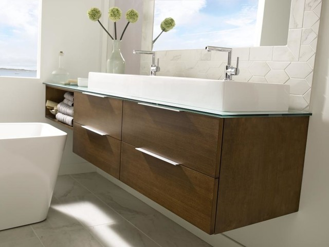 Omega Wall Hung Vanity Cabinet - Bathroom Vanities And Sink Consoles - other metro - by ...