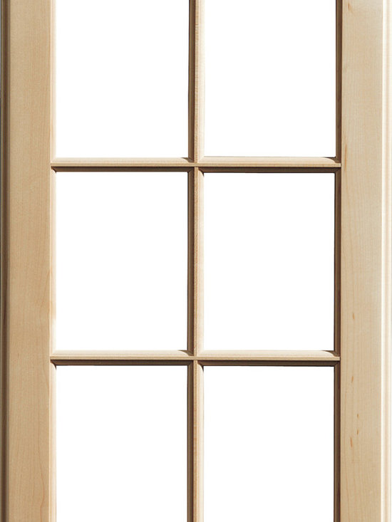 """Dura Supreme Cabinetry - Dura Supreme Cabinetry Mullion Patter #1 accent cabinet door - Dura Supreme Cabinetry """"Mullion Patter #1"""" accent cabinet door shown in Maple with Dura Supreme's """"Natural"""" finish."""