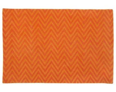 Orange Zig Zag Zrug contemporary kids rugs