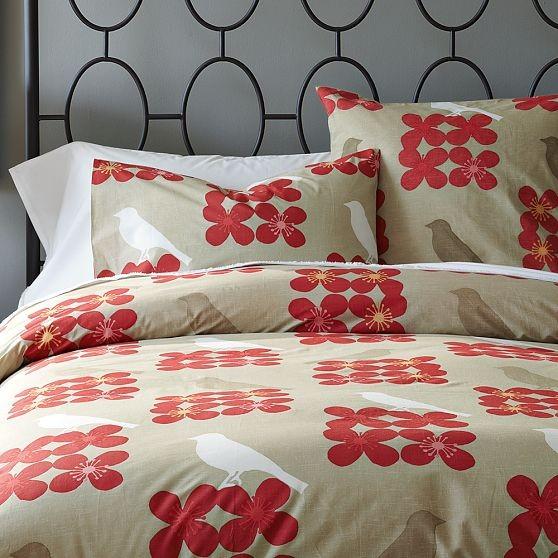 Songbird Duvet Cover + Shams modern-bedding