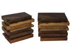 Salvaged Wood Layers Side Table contemporary side tables and accent tables