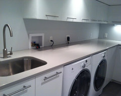 the clean look of the long countertop and use it for laundry gift ...