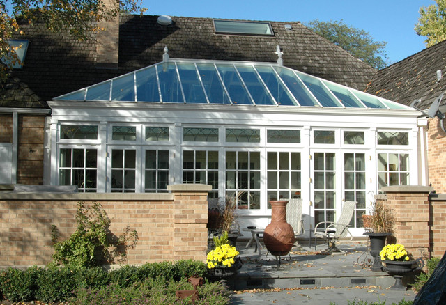 Courtyard conservatory traditional-greenhouses