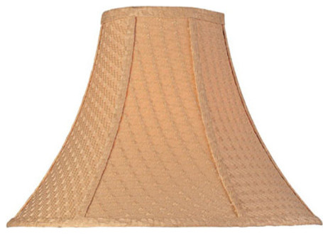 Woven Bell Shade - 6in.X16in.Bx12in.Sh traditional-lamp-shades