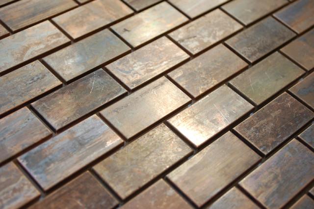 Eden Mosaic Tile Medium Brick Antique Copper Mosaic Tile
