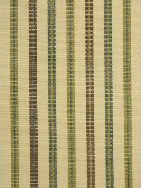 Beige and Green Striped Cotton Fabrics traditional-upholstery-fabric