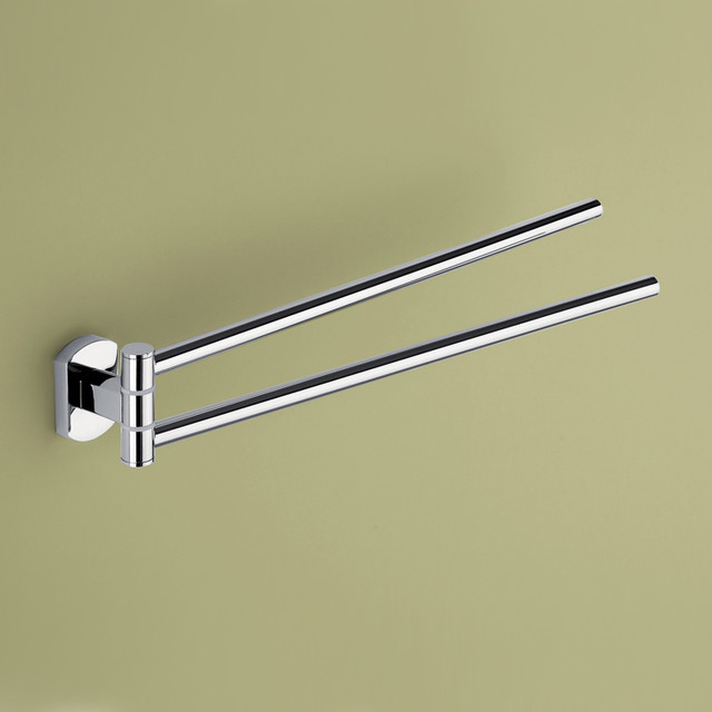 chrome swivel towel bar by gedy modern towel bars and hooks