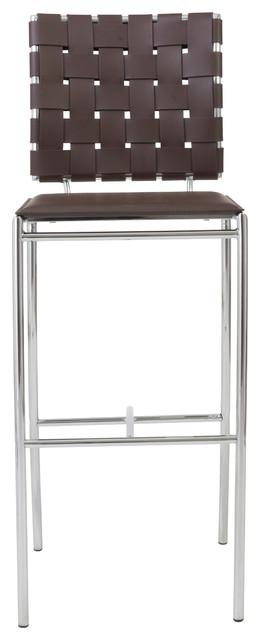 Carina-B Bar Chair (Set Of 2)-Brn contemporary-bar-stools-and-counter-stools