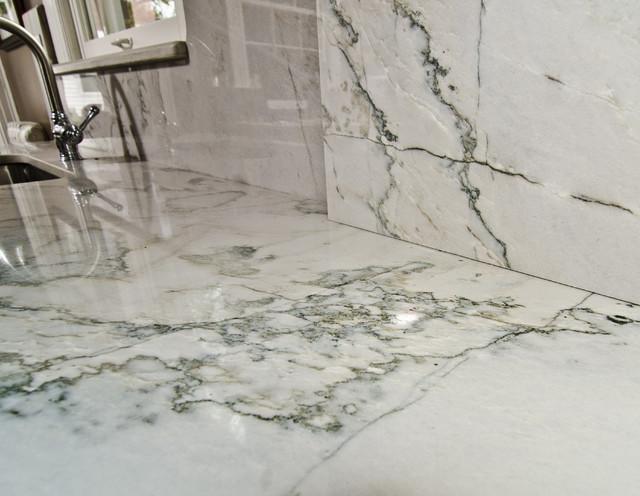 White Macaubas Quartzite In Nw Dc Contemporary Dc