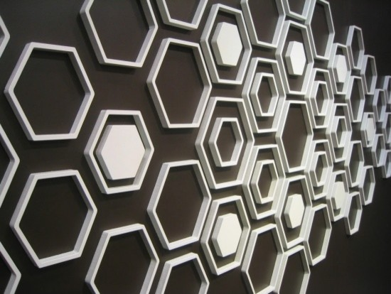 Wallter Hex Wall Applications (Set of 8) modern-decals