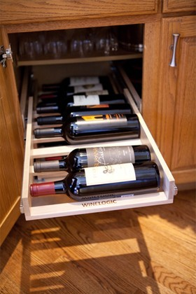Wine Logic   l  Wine Storage Solutions traditional-cabinet-and-drawer-organizers
