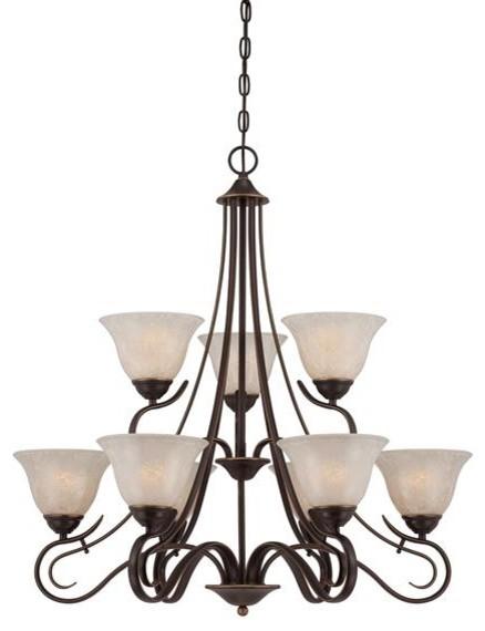 2 tier chandelier plldn brnz modern-chandeliers