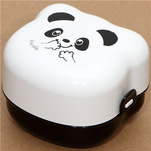 small panda bear Bento Box lacquer lunch box - food containers and