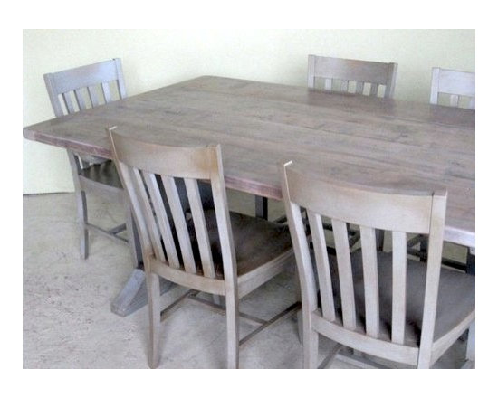 Southern Sante Fe  Dining Chairs in Slate Finish - Made by http://www.ecustomfinishes.com