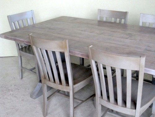 Southern Sante Fe  Dining Chairs in Slate Finish farmhouse-dining-chairs