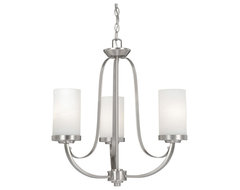 Oxford Brushed Nickel 3 Light Chandelier traditional-chandeliers
