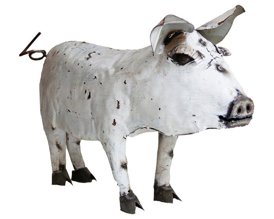 Metal Pig - It has a great patina, shows desirable signs of time worn paint and metal.