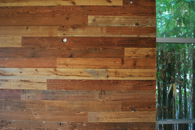 Custom reclaimed wood accent wall rustic san diego Reclaimed woods