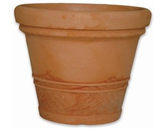Inga Round Planter modern outdoor planters