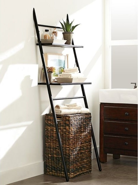 Rustic Over-the-Toilet Storage Ladder - Contemporary - Bathroom Cabinets And Shelves ...