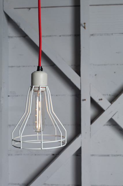 Wire Cage Pendant Light - Modern - Pendant Lighting - other metro - by ...