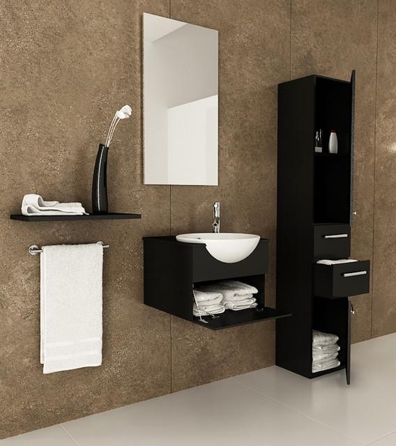 "42"" Mira Double Bathroom Vanity - Modern - Bathroom Vanities And Sink Consoles - by BathGems"