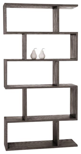 Carmine Bookshelf, Gray Limed Oak - Contemporary ...