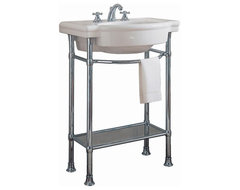 American Standard Retrospect Console Table With 8 Centers, White (0282.008.020) contemporary-bathroom-vanities-and-sink-consoles
