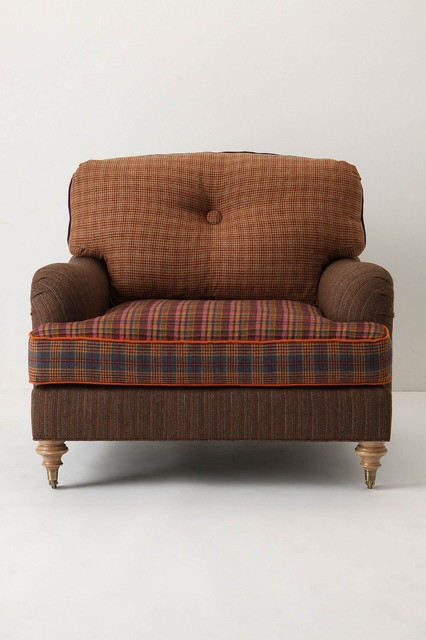 Winifred Colorblock Chair, Houndstooth - Ant