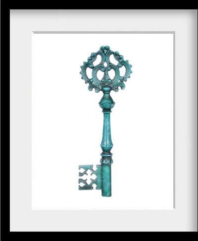 Blue Skeleton Key 8x10 contemporary-artwork