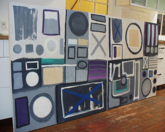 Rhapsody in Gray - Acrylic on canvas, 2 panels, each 4'x 4'