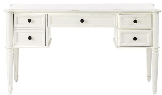 Martha stewart living ingrid desk rubbed ivory for Martha stewart home decorators collection