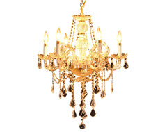 "6-Light 22"" Gold  Chandelier Victorian Design traditional-chandeliers"